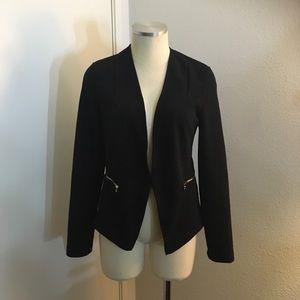 Black Blazer 96%Polyester 4%spandex Unknown Brand